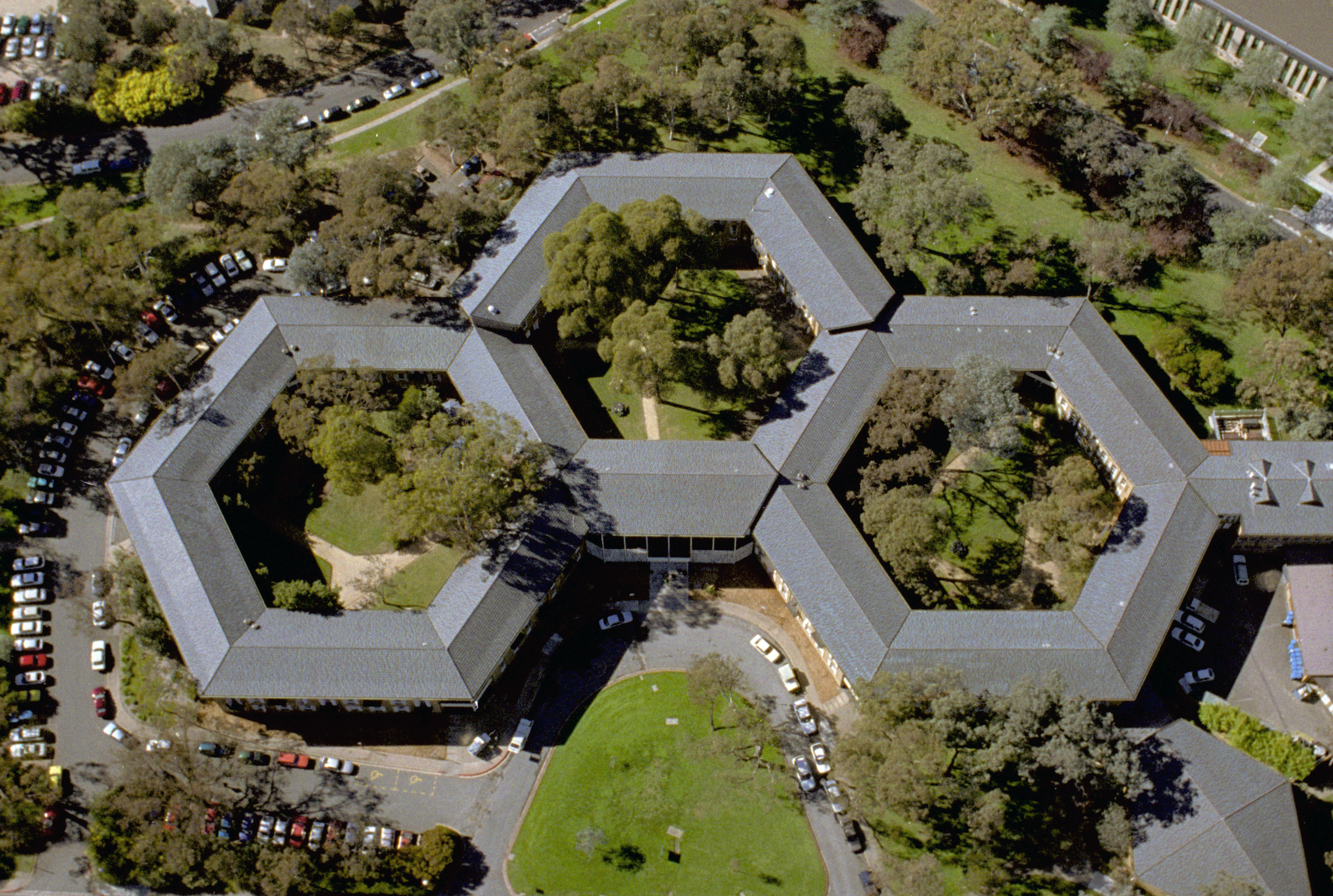 Aerial view of the Coombs Building